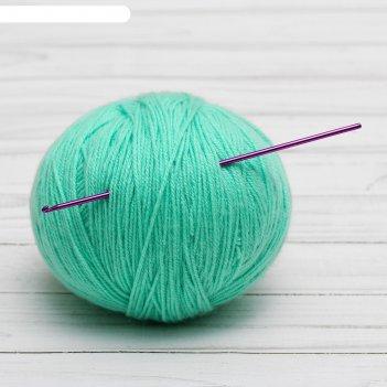 Крючок для вязания, d = 2,5 мм, 15 см, цвет микс