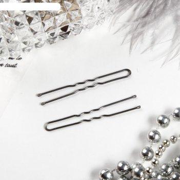Шпильки для волос серебряный цвет (набор 10 шт.)