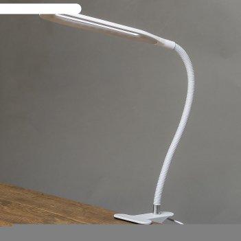 Светильник настольный на прищепке офисный белый 24led usb 11х7,5х60,5 см