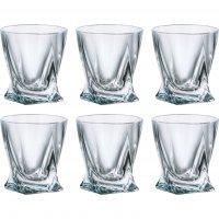 Набор стаканов 55мл.6шт. квадро прозрачный