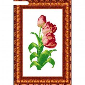 Схема для вышивания крестиком «тюльпаны», канва 33х57 см