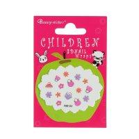 Наклейки для ногтей детские цветочки, цвета микс