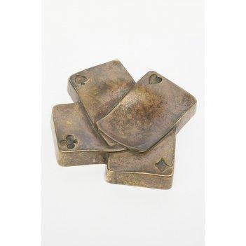Пепельница игральные карты, 14х14,3 см (2.307а)