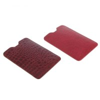 Чехол-кармашек для планшетов и электронных книг 7 бордовый рептилия