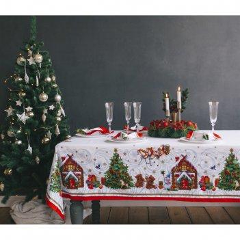 Скатерть этель новогодняя сказка, размер 150х220 см, хлопок 100%, 183 г/м2