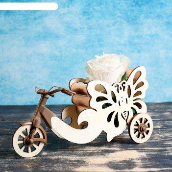 Кашпо велосипед с бабочкой 26*6*23 см