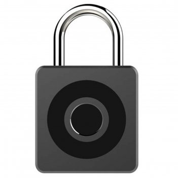 Умный замок digma smartlock c1, навесной, разбл.отпеч.пальца, 100мач, черн