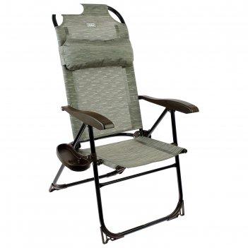 Кресло-шезлонг, 75 x 59 x 109 см, бамбук, кш2/4, с полкой