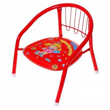 Детский стульчик трон принцессы с пищалкой, мягкое сиденье 27 х 27 см
