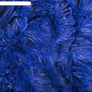 Плед мех шиншилла двухсторонний, 240х220 см, синий