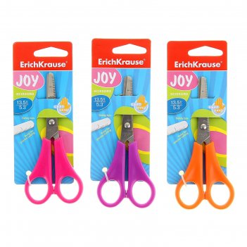 Ножницы для левшей joy left hand 13,5см, 3 вида микс, ek 30790