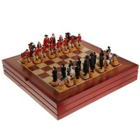 Шахматы сувенирные англичане против французов