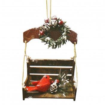 Набор для творчества - создай елочное украшение  новогодняя скамеечка