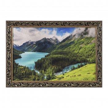 Гобеленовая картина горное озеро