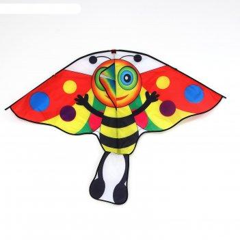 Воздушный змей пчёлка с леской, цвета микс