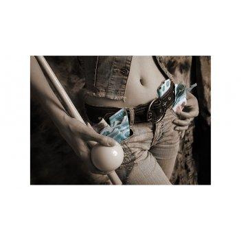 Постер snb07021 (700х500 мм) - девичьи игры на бильярде