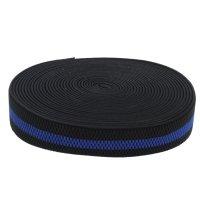 Резинка, ширина 38мм, 10м, цвет чёрно-синий