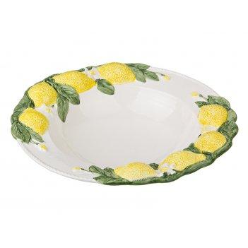 Салатник лимоны диаметр=30 см.высота=7 см. (кор=1шт.)