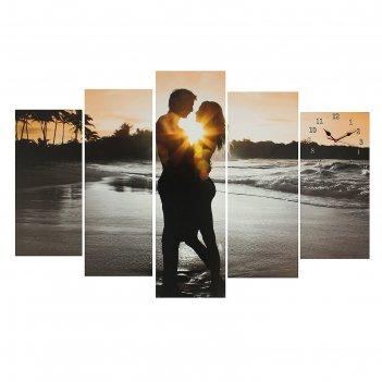Часы настенные модульные «влюблённая пара», 80 x 140 см