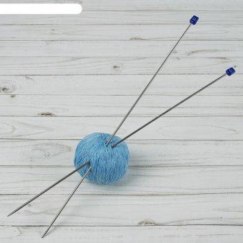 Спицы для вязания, прямые, d = 3 мм, 40 см, 2 шт