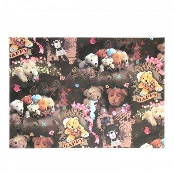 Бумага для творчества счастливые мишки а4 плотность 80 гр