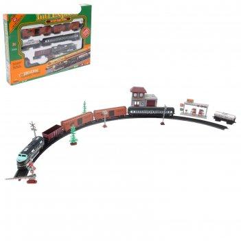 Железная дорога большой экспресс, 4 вагона, дом, длина пути 403 см, со све