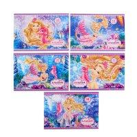 Альбом для рисования а4, 40 листов на скрепке барби (barbie) 5 видов микс