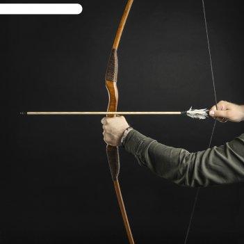 Лук деревянный взрослый традиционный, коричневый, массив ясеня, 170 см