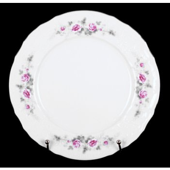 Набор тарелок роза серая платина 25см. 6шт.