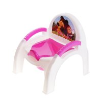 Горшок-стульчик детский маша и медведь, цвет розовый