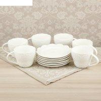 Сервиз кофейный 12 пред. селена: 6 чашек 220 мл, 6 блюдце d-14,5 см