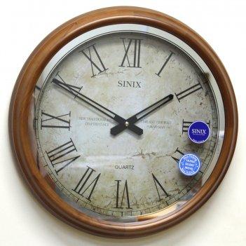 Большие настенные часы sinix 5082 oak