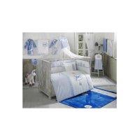 Комплект в кроватку rabitto, 6 предметов, цвет голубой