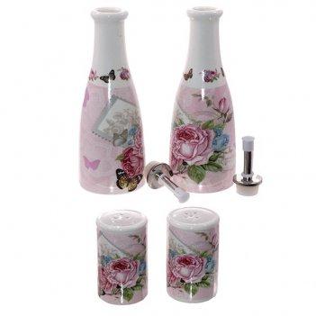 Набор: 2 бутылки для масла l7 w7 h23 cм-350 мл, 2 емкости дл...