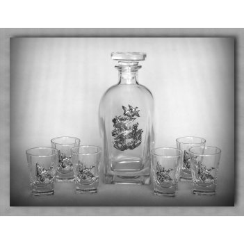 Набор для водки 307«утиная охота»        арт. ншт41307уто-16