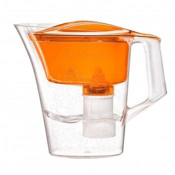 Фильтр-кувшин 2,5 л барьер-танго, с узором, цвет оранжевый