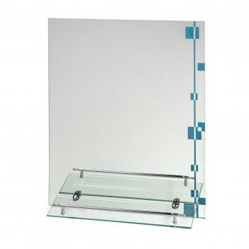 Зеркало в ванную комнату 60x45 см, ассоona a618, 1 полка
