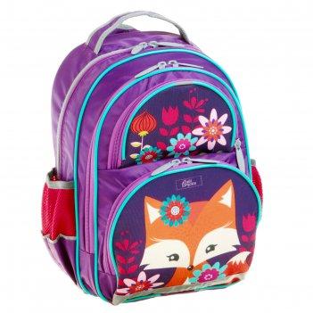 Рюкзак школьный с эргономичной спинкой, calligrata, 36 х 23 х 13, «лисичка