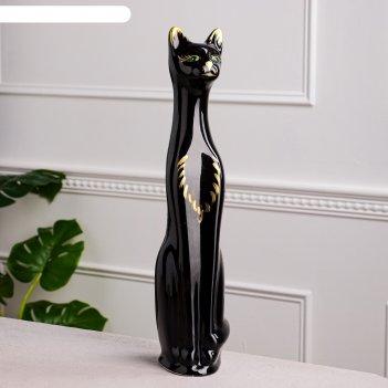 Копилка кот, чёрный цвет, 48 см