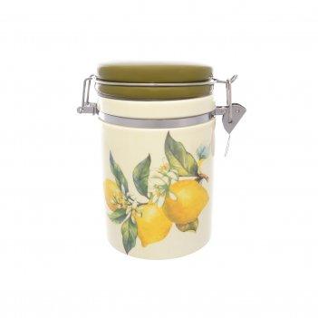 Банка для сыпучих продуктов лимоны 600 мл