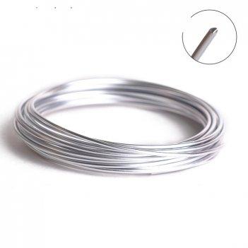 Проволока для плетения awb-2, d=2мм, 5м, №01 под серебро