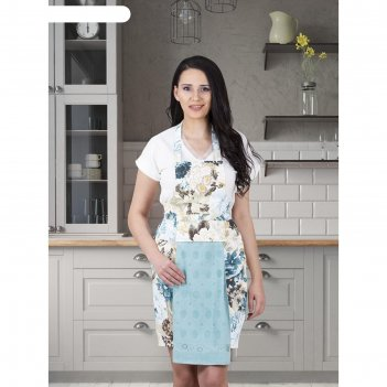 Фартук кухонный karna с салфеткой 30x50 см, 360 г/м2, цвет светло-зелёный