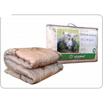 Одеяло облегчённое адамас овечья шерсть, размер 200х220 ± 5 см, 200гр/м2,