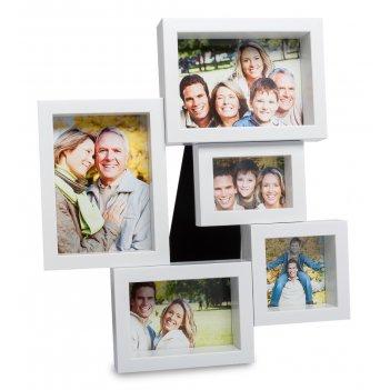 Chk-134 панно из фоторамок семейная история на 5 фото