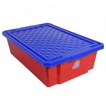 Ящик для хранения игрушек на колесах 1018la-rd красный