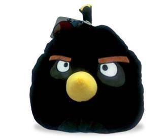 авв10, angry birds декоративная подушка черная птица black bird 25см