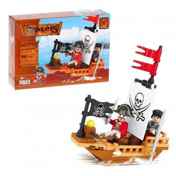 Конструктор «пиратская лодка», 62-66 деталей, микс