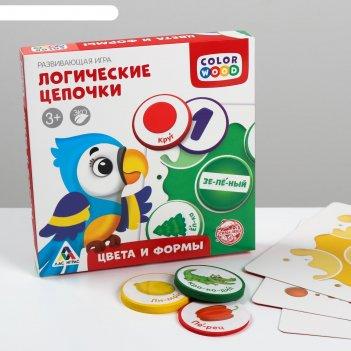 Развивающая игра логические цепочки. цвета и формы