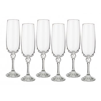 Набор бокалов для шампанского из 6 шт. джулия 180 мл высота=21 см (кор=8на