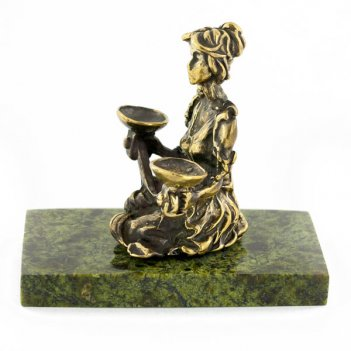 Статуэтка знак зодиака весы бронза змеевик